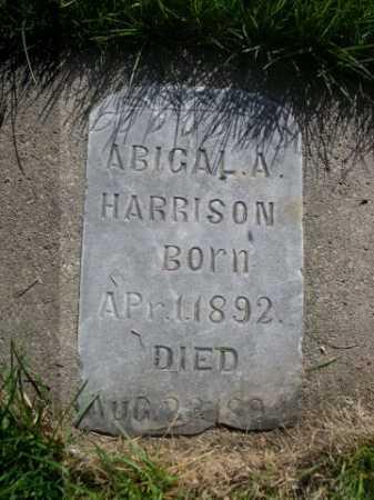 HARRISON, ABIGAL A. - Dawes County, Nebraska | ABIGAL A. HARRISON - Nebraska Gravestone Photos