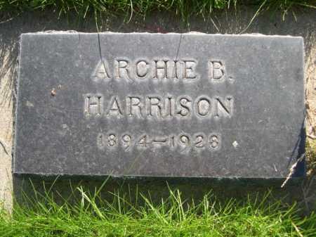 HARRISON, ARCHIE B. - Dawes County, Nebraska | ARCHIE B. HARRISON - Nebraska Gravestone Photos
