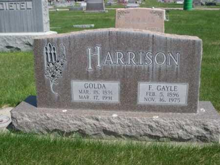 HARRISON, F. GAYLE - Dawes County, Nebraska | F. GAYLE HARRISON - Nebraska Gravestone Photos