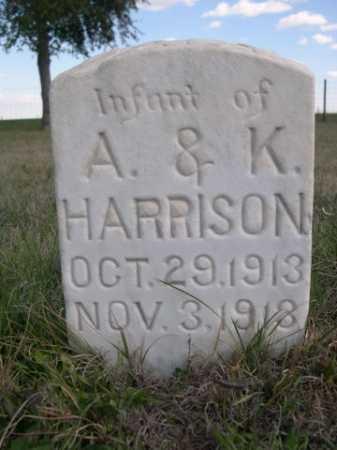 HARRISON, INFANT OF A. & K. - Dawes County, Nebraska | INFANT OF A. & K. HARRISON - Nebraska Gravestone Photos