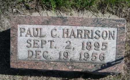 HARRISON, PAUL C. - Dawes County, Nebraska | PAUL C. HARRISON - Nebraska Gravestone Photos