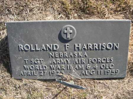 HARRISON, ROLLAND F. - Dawes County, Nebraska | ROLLAND F. HARRISON - Nebraska Gravestone Photos