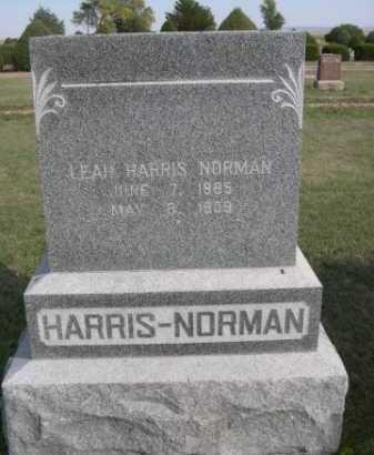 HARRIS-NORMAN, LEAH - Dawes County, Nebraska   LEAH HARRIS-NORMAN - Nebraska Gravestone Photos
