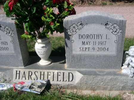 HARSHFIELD, DOROTHY L. - Dawes County, Nebraska   DOROTHY L. HARSHFIELD - Nebraska Gravestone Photos