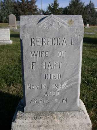 HART, REBECCA L. - Dawes County, Nebraska | REBECCA L. HART - Nebraska Gravestone Photos