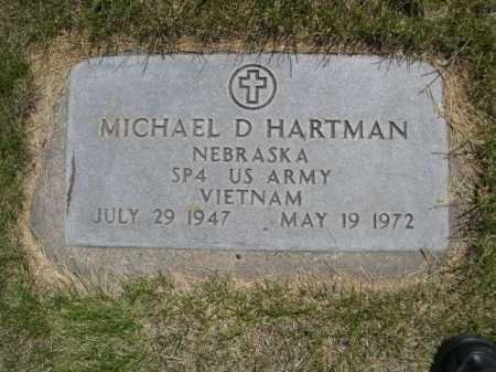 HARTMAN, MICHAEL D. - Dawes County, Nebraska | MICHAEL D. HARTMAN - Nebraska Gravestone Photos