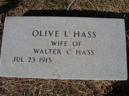 HASS, OLIVE L. - Dawes County, Nebraska | OLIVE L. HASS - Nebraska Gravestone Photos