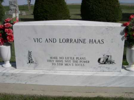 HASS, VICK AND LORRAINE - Dawes County, Nebraska | VICK AND LORRAINE HASS - Nebraska Gravestone Photos