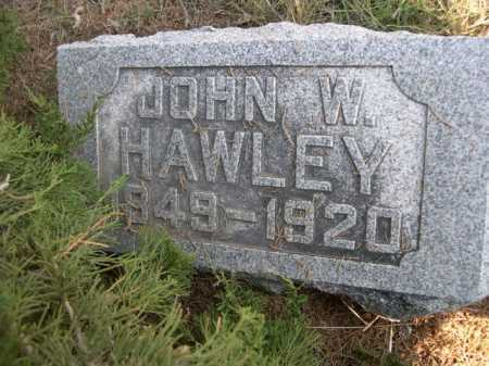 HAWLEY, JOHN W. - Dawes County, Nebraska | JOHN W. HAWLEY - Nebraska Gravestone Photos