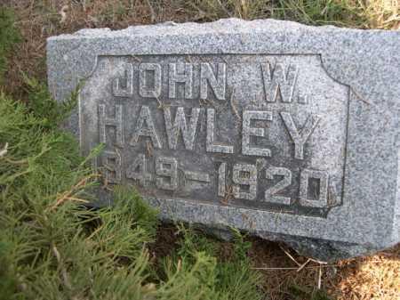 HAWLEY, JOHN W. - Dawes County, Nebraska   JOHN W. HAWLEY - Nebraska Gravestone Photos
