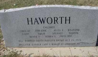 HAWORTH, LAWRENCE WILLIAM - Dawes County, Nebraska | LAWRENCE WILLIAM HAWORTH - Nebraska Gravestone Photos