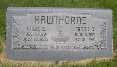 HAWTHORNE, FRANK A. - Dawes County, Nebraska | FRANK A. HAWTHORNE - Nebraska Gravestone Photos