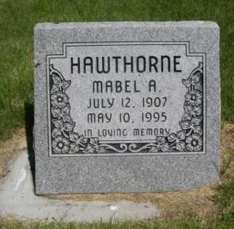 HAWTHORNE, MABEL A. - Dawes County, Nebraska   MABEL A. HAWTHORNE - Nebraska Gravestone Photos