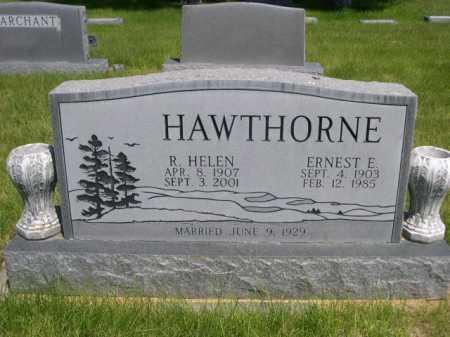 HAWTHORNE, ERNEST E. - Dawes County, Nebraska | ERNEST E. HAWTHORNE - Nebraska Gravestone Photos