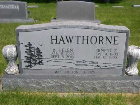 HAWTHORNE, R. HELEN - Dawes County, Nebraska | R. HELEN HAWTHORNE - Nebraska Gravestone Photos