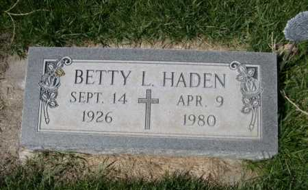 HAYDEN, BETTY L. - Dawes County, Nebraska   BETTY L. HAYDEN - Nebraska Gravestone Photos