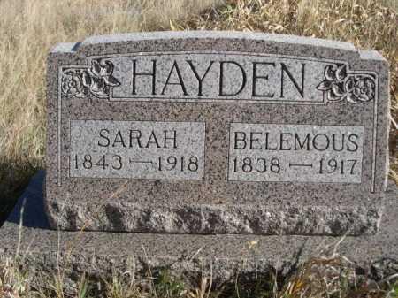 HAYDEN, BELEMOUS - Dawes County, Nebraska | BELEMOUS HAYDEN - Nebraska Gravestone Photos