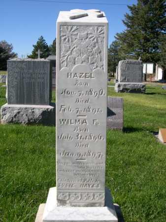 HAYES, WILMA F. - Dawes County, Nebraska | WILMA F. HAYES - Nebraska Gravestone Photos
