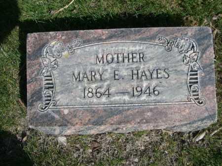 HAYES, MARY E. - Dawes County, Nebraska | MARY E. HAYES - Nebraska Gravestone Photos