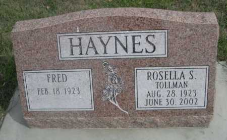 TOLLMAN HAYNES, ROSELLA S. - Dawes County, Nebraska | ROSELLA S. TOLLMAN HAYNES - Nebraska Gravestone Photos
