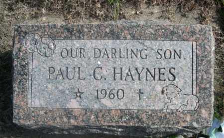 HAYNES, PAUL C. - Dawes County, Nebraska   PAUL C. HAYNES - Nebraska Gravestone Photos
