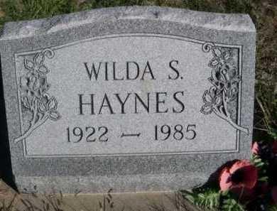HAYNES, WILDA S. - Dawes County, Nebraska | WILDA S. HAYNES - Nebraska Gravestone Photos