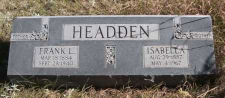 HEADDEN, FRANK L. - Dawes County, Nebraska | FRANK L. HEADDEN - Nebraska Gravestone Photos