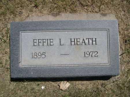 HEATH, EFFIE L. - Dawes County, Nebraska   EFFIE L. HEATH - Nebraska Gravestone Photos