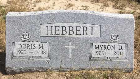 HEBBERT, MYRON D. - Dawes County, Nebraska | MYRON D. HEBBERT - Nebraska Gravestone Photos