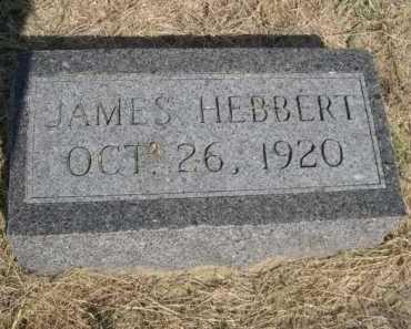 HEBBERT, JAMES - Dawes County, Nebraska   JAMES HEBBERT - Nebraska Gravestone Photos