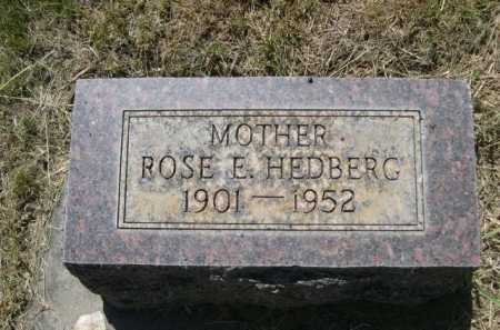 HEDBERG, ROSE E. - Dawes County, Nebraska | ROSE E. HEDBERG - Nebraska Gravestone Photos