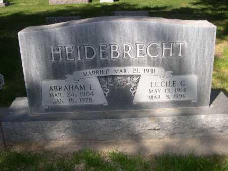 HEIDEBRECHT, ABRAHAM L. - Dawes County, Nebraska | ABRAHAM L. HEIDEBRECHT - Nebraska Gravestone Photos