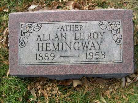 HEMINGWAY, ALLAN LE ROY - Dawes County, Nebraska | ALLAN LE ROY HEMINGWAY - Nebraska Gravestone Photos