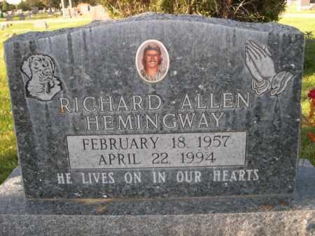 HEMINGWAY, RICHARD ALLEN - Dawes County, Nebraska   RICHARD ALLEN HEMINGWAY - Nebraska Gravestone Photos