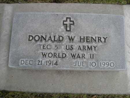 HENRY, DONALD W. - Dawes County, Nebraska | DONALD W. HENRY - Nebraska Gravestone Photos