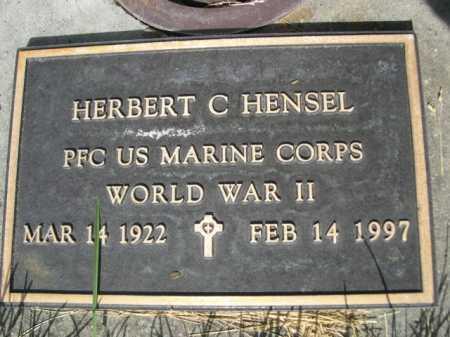 HENSEL, HERBERT C. - Dawes County, Nebraska | HERBERT C. HENSEL - Nebraska Gravestone Photos