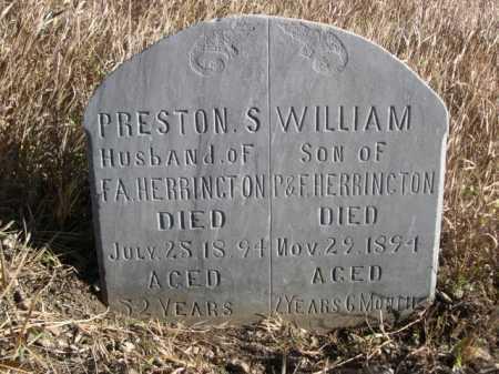 HERRINGTON, PRESTON S. - Dawes County, Nebraska | PRESTON S. HERRINGTON - Nebraska Gravestone Photos