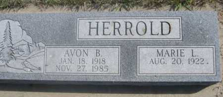 HERROLD, MARIE L. - Dawes County, Nebraska | MARIE L. HERROLD - Nebraska Gravestone Photos
