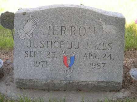 HERRON, JUSTICE J.J. JAMES - Dawes County, Nebraska | JUSTICE J.J. JAMES HERRON - Nebraska Gravestone Photos