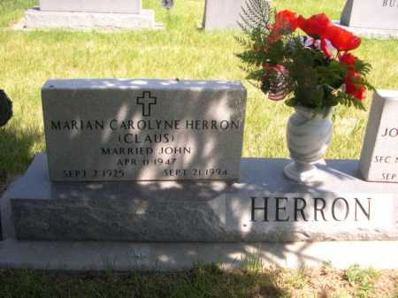 CLAUS HERRON, MARIAN CAROLYNE - Dawes County, Nebraska | MARIAN CAROLYNE CLAUS HERRON - Nebraska Gravestone Photos