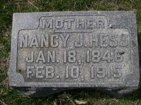 HESS, NANCY J. - Dawes County, Nebraska | NANCY J. HESS - Nebraska Gravestone Photos