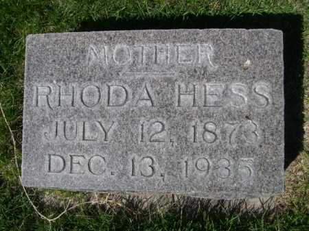 HESS, RHODA - Dawes County, Nebraska | RHODA HESS - Nebraska Gravestone Photos