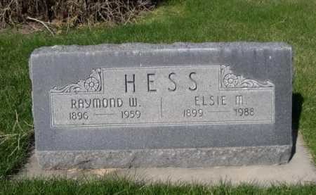 HESS, RAYMOND W. - Dawes County, Nebraska   RAYMOND W. HESS - Nebraska Gravestone Photos