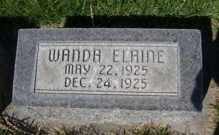 HESS, WANDA ELAINE - Dawes County, Nebraska | WANDA ELAINE HESS - Nebraska Gravestone Photos