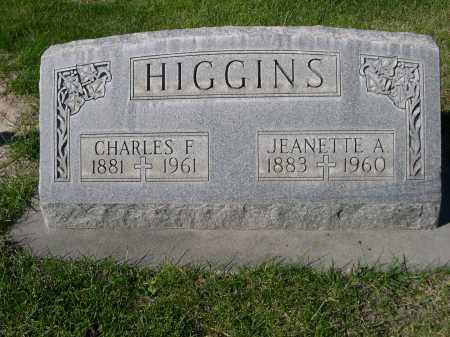 HIGGINS, JEANETTE A. - Dawes County, Nebraska | JEANETTE A. HIGGINS - Nebraska Gravestone Photos