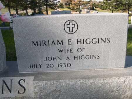HIGGINS, MIRIAM E. - Dawes County, Nebraska | MIRIAM E. HIGGINS - Nebraska Gravestone Photos