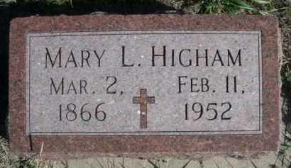 HIGHAM, MARY L. - Dawes County, Nebraska   MARY L. HIGHAM - Nebraska Gravestone Photos