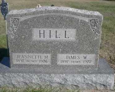 HILL, JEANNETTE M. - Dawes County, Nebraska   JEANNETTE M. HILL - Nebraska Gravestone Photos