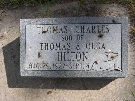 HILTON, THOMAS CHARLES - Dawes County, Nebraska | THOMAS CHARLES HILTON - Nebraska Gravestone Photos
