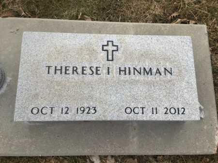 HINMAN, TERESE I - Dawes County, Nebraska | TERESE I HINMAN - Nebraska Gravestone Photos